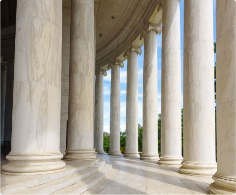 Ionic Columns at Jefferson Memorial, Washington DC Architecturel